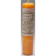 Energy and Will Blessed Herbal Candle